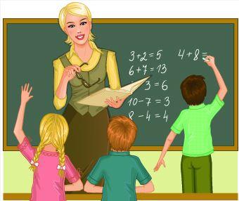 profesora 3 alumnos clase