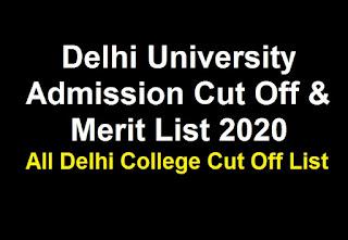 Delhi University Admission Cut Off