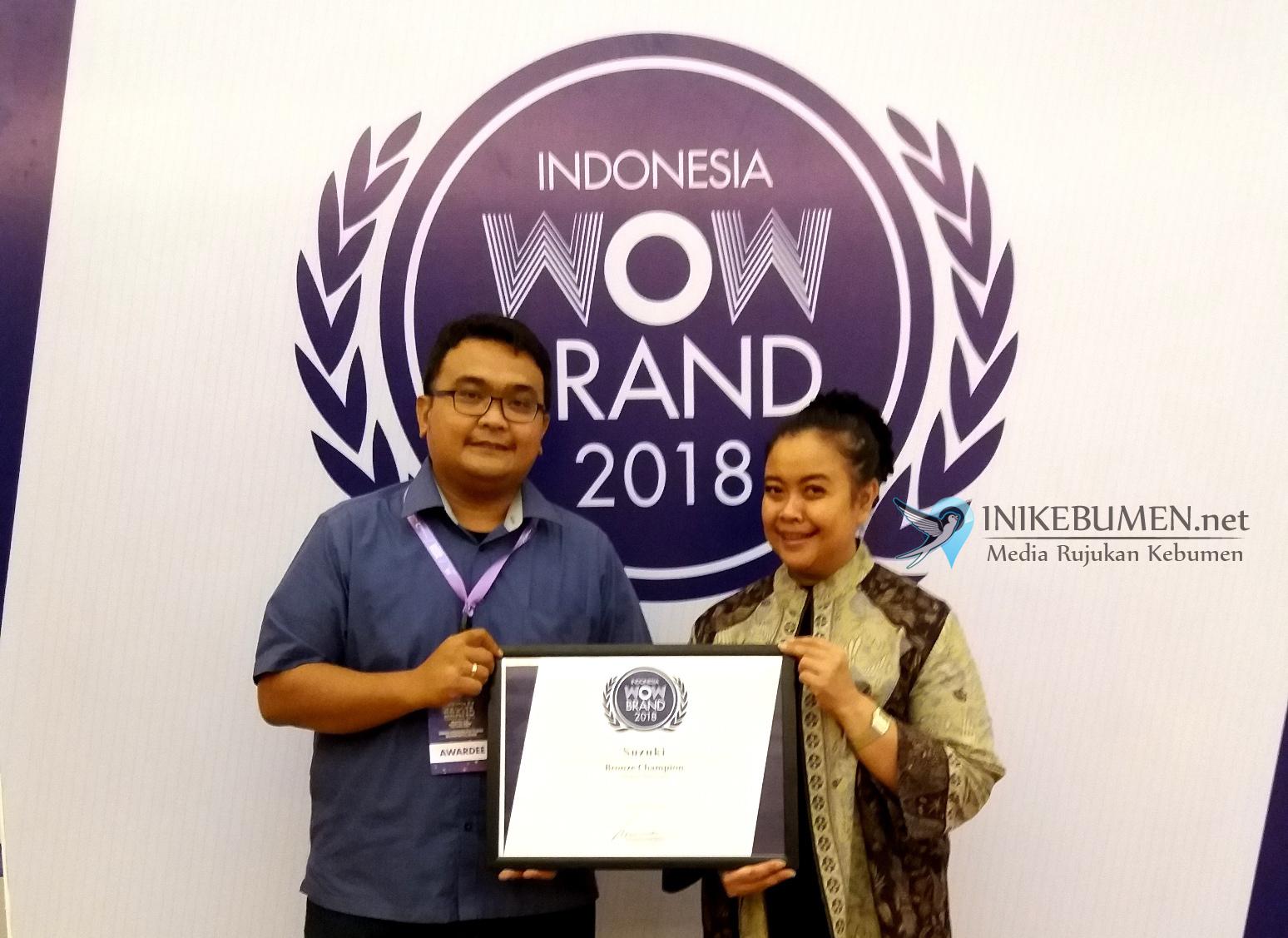 Raih WOW Brand Award 2018, Suzuki Makin jadi Brand yang Direkomendasikan Pelanggan