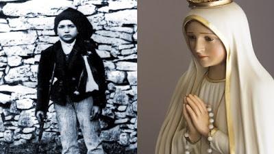 imagem de Nossa Senhora de Fátima e Francisco Marto