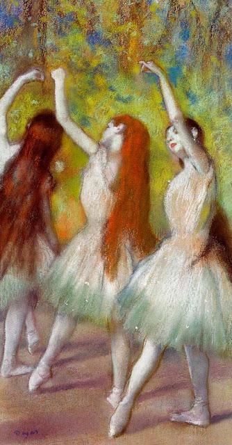 Эдгар Дега - Танцовщицы в зелёном (ок.1878)