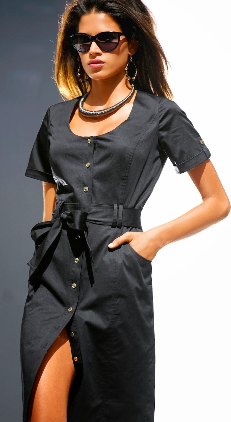Madeleine Dress in Black