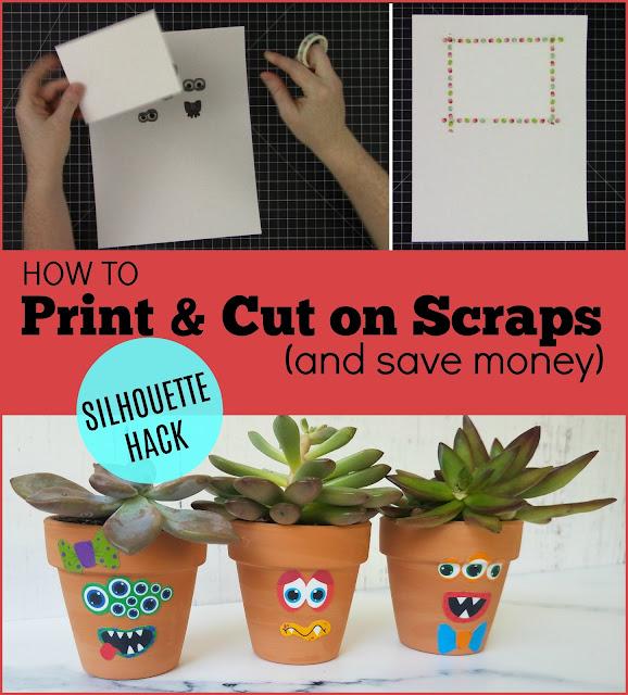silhouette 101, silhouette america blog, print and cut, sticker paper, printable vinyl