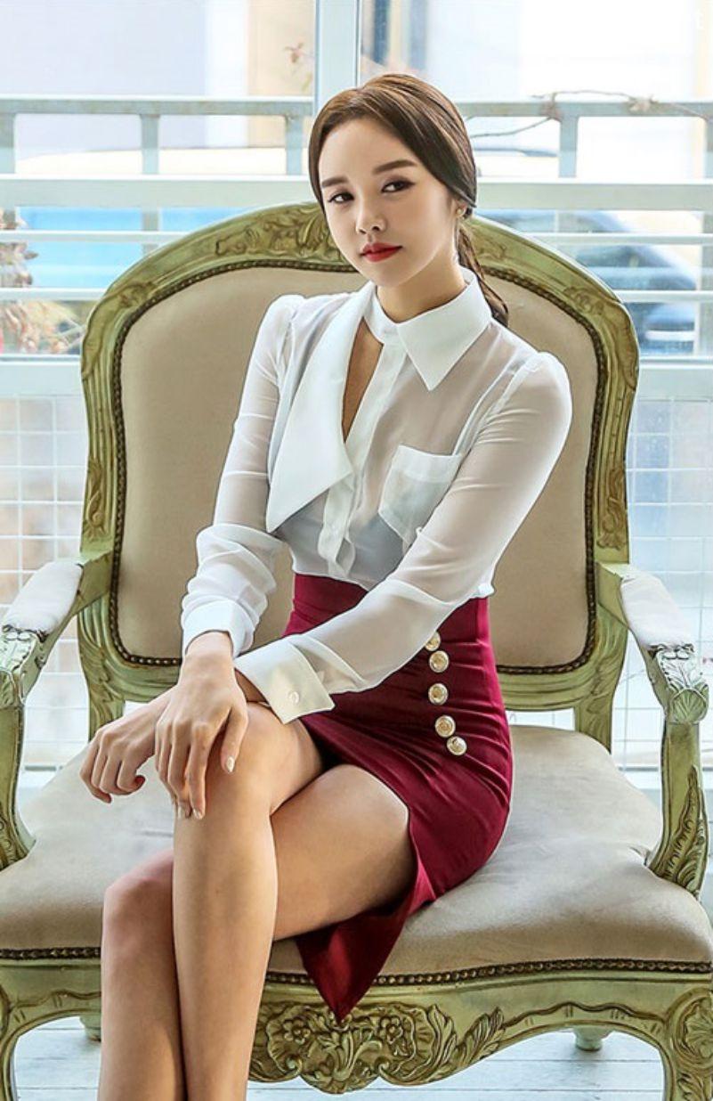 Korean Fashion Model - Chloe Kim - Indoor Photoshoot Collection - TruePic.net - Picture 3