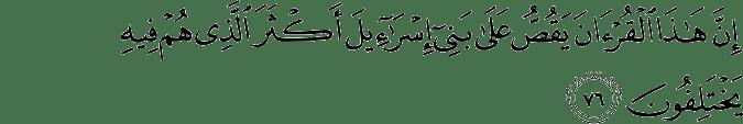Surat An Naml ayat 76