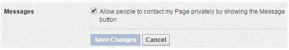 Disabling Private Messages on Your Facebook Page