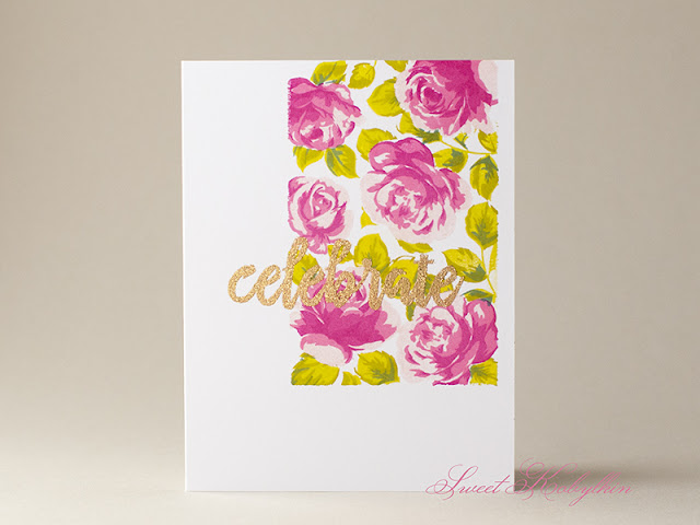 Greeting Card with Vintage Roses from Altenew by Sweet Kobylkin