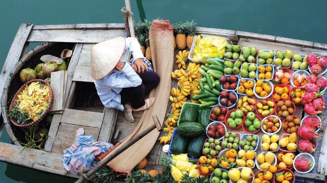 Mercado flotante, Vietnam