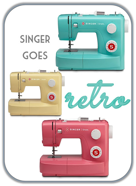 Aqua, pink and butter yellow retro sewing machines for under $100 by Singer sewing machines
