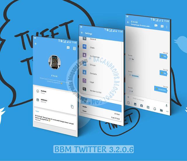 BBM Mod Twitter Style Theme v3.2.0.6 Apk terbaru new Style