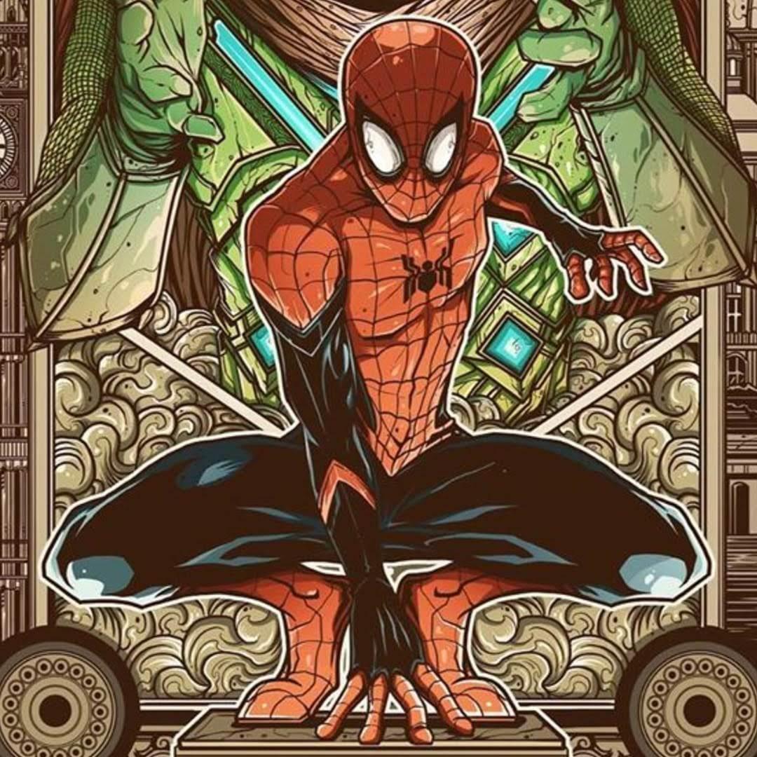 Spider-Man Far From Home Inspired Poster :「スパイダーマン」シリーズ第2弾の「ファー・フロム・ホーム」から発想をひろげて描いたユニークなデザインのアート・ポスター ! !