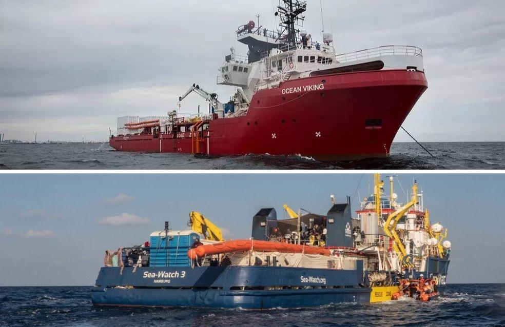 Navios humanitários com mais de 800 migrantes esperam para desembarque