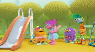 Abby Cadabby Blögg Gonnigan, Abby's Flying Fairy School Playground Troll, Sesame Street Episode 4318 Build a Better Basket season 43