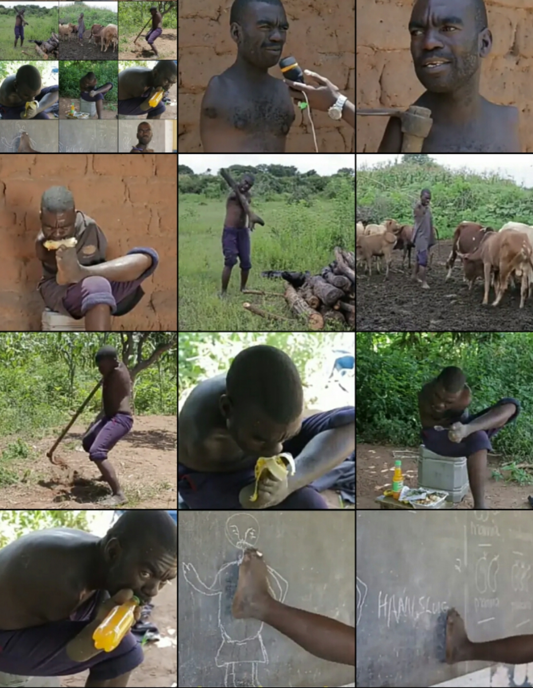 I was Born Without Hands, my Wife and Son Left me so i Farm & Fish to Fend for my Mother & Myself