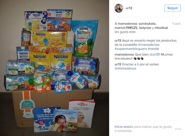 Premio Sorteo Nestle blog Mama de Noa
