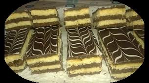 حلوى الطبقات بالشوكولاطة