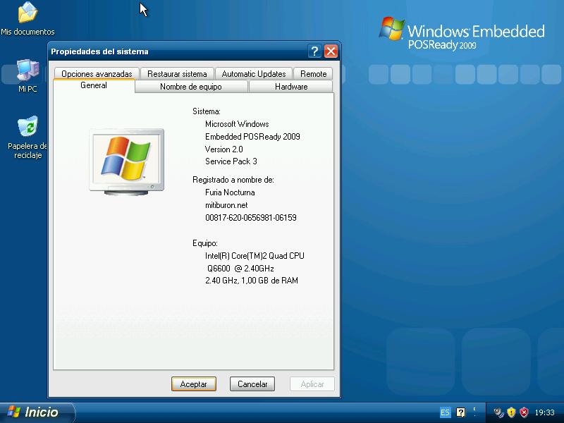 Windows Embedded POSReady 2009