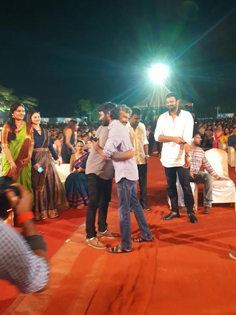 dhanush at Baahubali 2 tamil audio launch