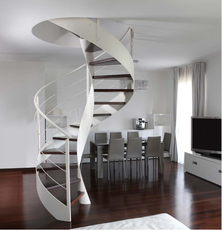 Desain tangga minimalis tingkatkan tiap-tiap ruang moderen dengan bersih, tampak terang dari kaca, yang sangat mungkin sinar masuk ke ruangan.
