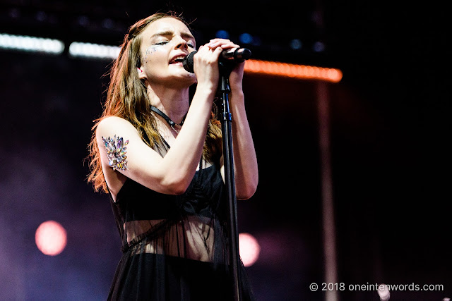 Chvrches at Yonge-Dundas Square on June 16, 2018 for NXNE 2018 Photo by John Ordean at One In Ten Words oneintenwords.com toronto indie alternative live music blog concert photography pictures photos