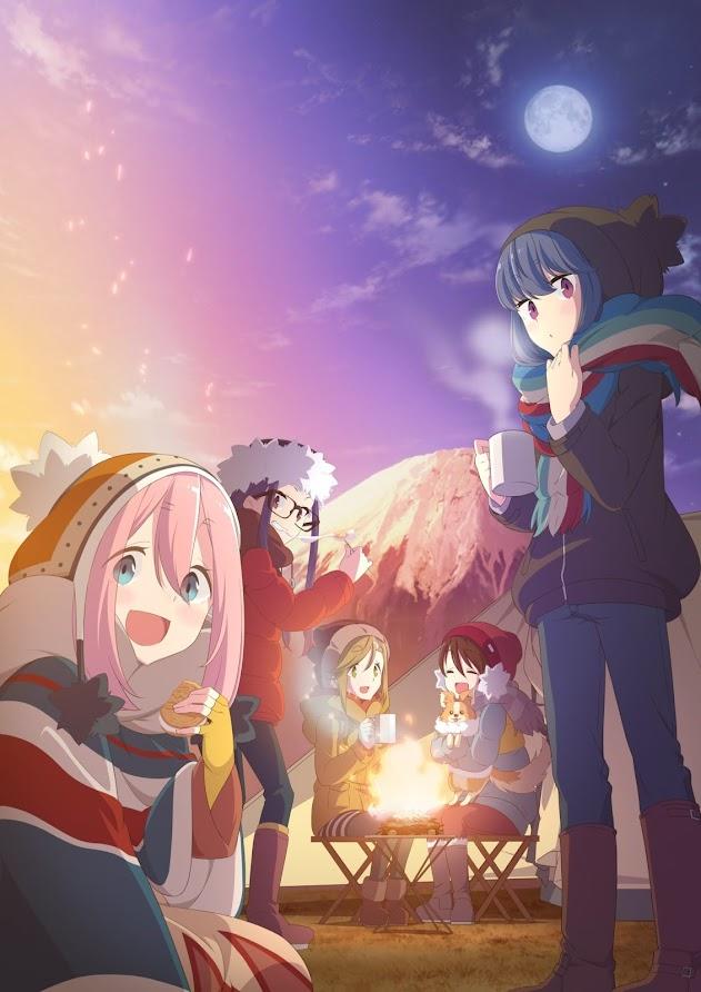 Yuru Camp, póster de su segunda temporada