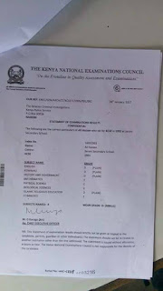 Joho certificate is valid as KNEC apologises over faking issue. PHOTO | Courtesy