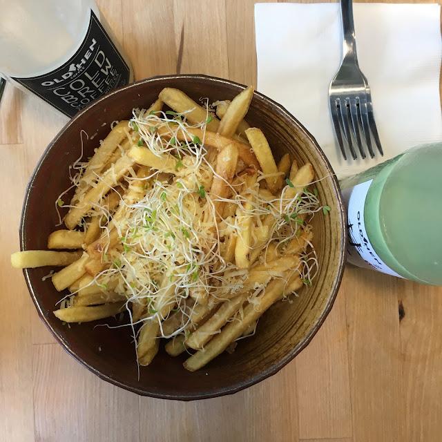 truffle fries, old hen kitchen