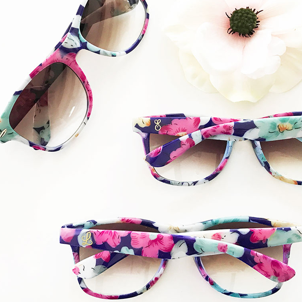Monogrammed Floral Sunglasses
