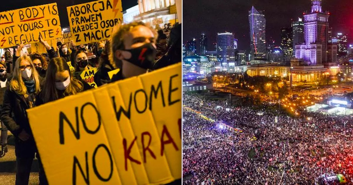 Massive Demonstrations In Poland As The Government Forwards New Law Restricting Abortion