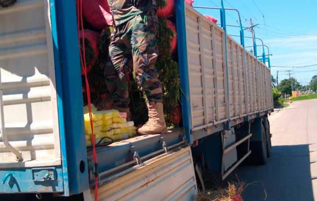 VIDEO: FELCN incauta 173 kilos de droga camuflada en un camión de alimentos