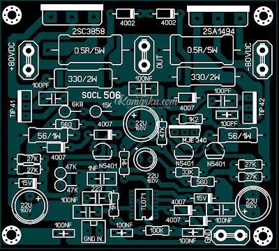 PCB Layout SOCL 506  Amplifire lapangan terbaru