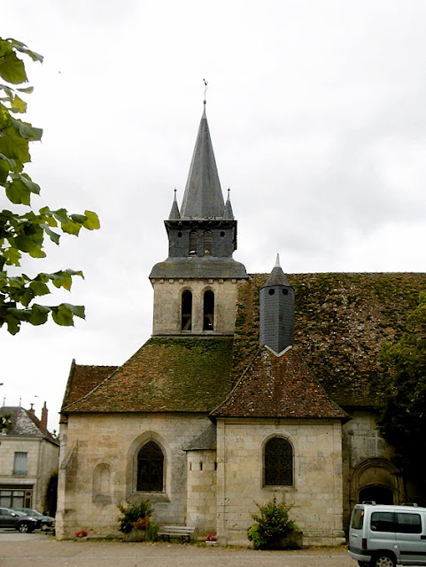 Church at Le Grand Pressigny, Indre et Loire, France. Photo by Loire Valley Time Travel.