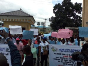 Youths Protest Against SARS Operations In Rivers