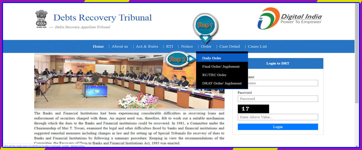 Debts Recovery Tribunal-1 Hyderabad Daily Order Detail