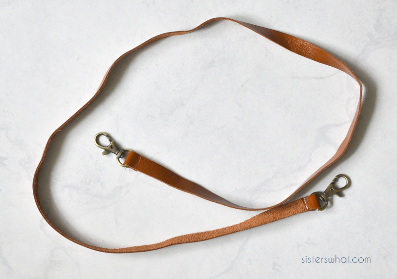 how to sew a leather strap for purse