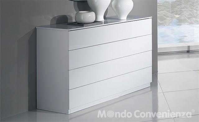 Arredamenti moderni idee comodino como 39 cassettiera per for Comodini moderni mondo convenienza