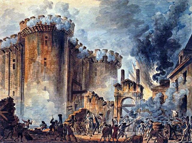 """Ο πίνακας του Jean-Pierre Houël """"Η Άλωση της Βαστίλης"""""""