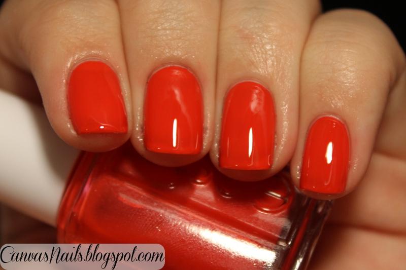 Canvas Nails Essie Geranium