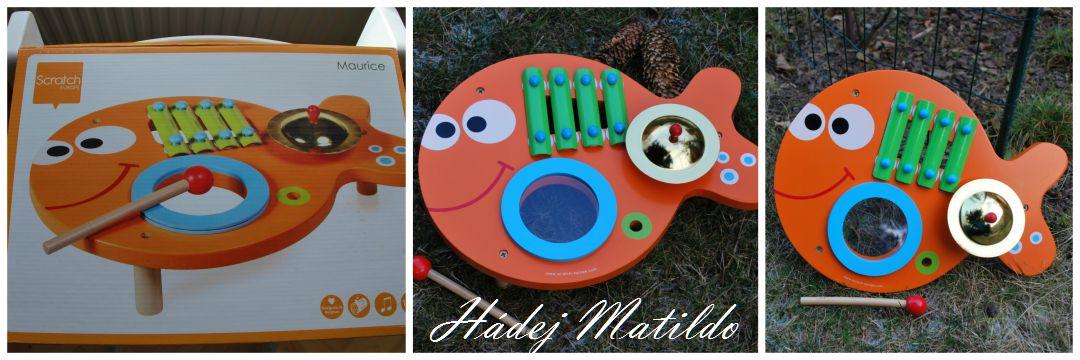 hudební stolek, dětský xylofon, scratch, dětské hudební hračky