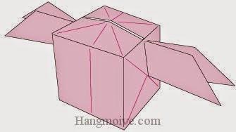 Bước 17: Hoàn thành cách xếp chiếc hộp bay bằng giấy đơn giản.