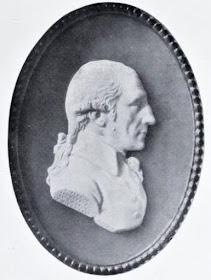 Wedgwood cameo of Robert Adam, modelled by Tassie  from The Architecture of Robert and James Adam   by AT Bolton (1922)
