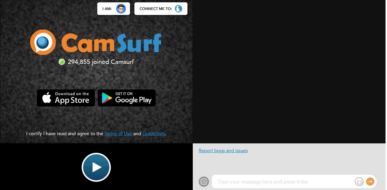 Camsurf homepage