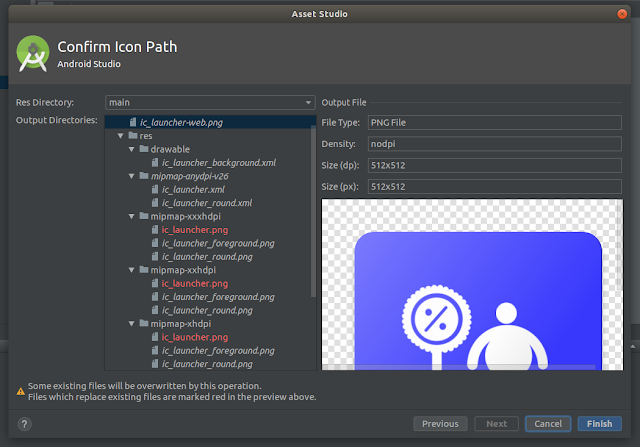 Confirm Icon Path