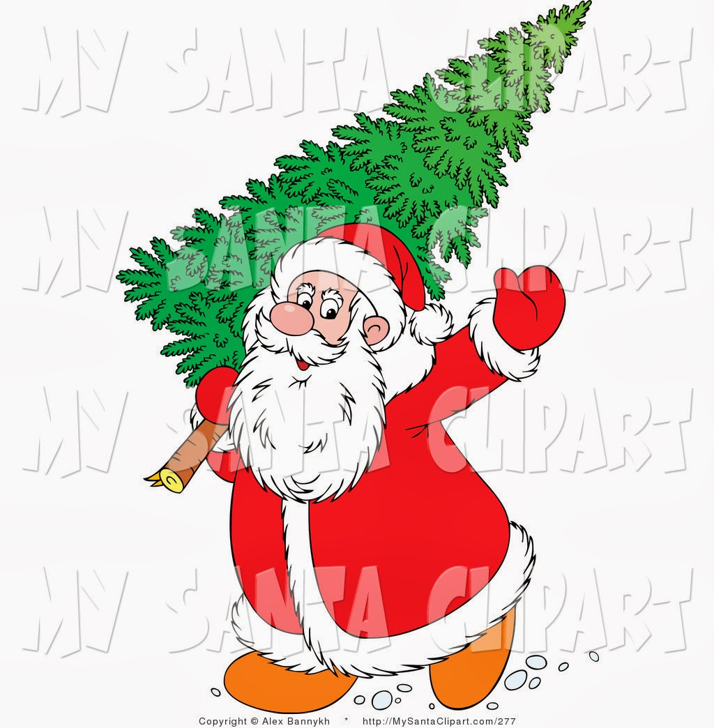 Christmas Tree With Santa Clip Art Hungerford Arcade Antiques And Collectables Hungerford