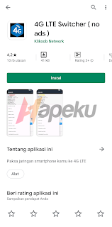 Download Aplikasi 4G LTE Switcher di Google Play Store
