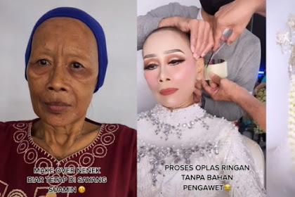 Dandani Seorang Nenek, MUA Ini Tarik Wajah Pakai Lakban Bikin Kulit Berkerut Jadi Muda LagI!