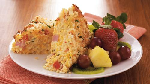 cheesy ham breakfast casserole