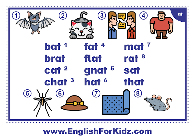 at family words - printable flashcard with pictures