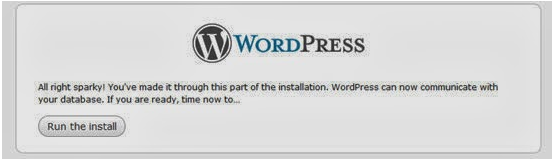 Wordpress installation Guide on locally step for sql connectivity step 2