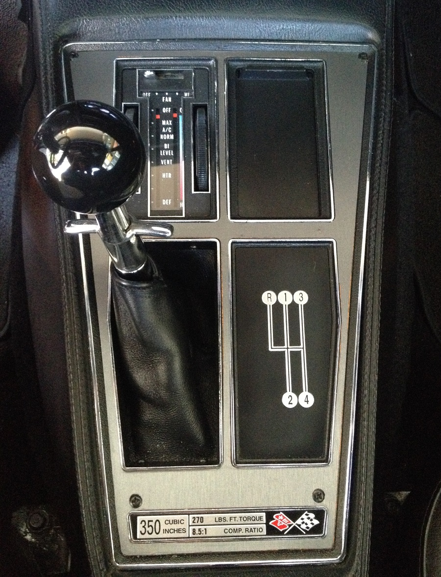 my 1976 corvette stingray restore detail fix drive restoring the shifter console. Black Bedroom Furniture Sets. Home Design Ideas